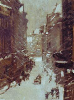 Daan Mühlhaus de Dordtse Voorstraat in de sneeuw - Image0638.jpg (532×724)