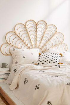 lulu rattan headboard bed