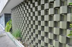 Patterned concrete screens. Parker Hotel, Palm Springs.