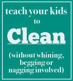 How to get kids to clean without being asked FREE printable chart