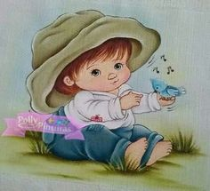 Pintura em tecido para bebês   fraldas   para meninos   salvo de polly pinturas Facebook
