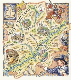 Forest of Bowland Map by David Hobbs