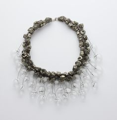 Pyrite and glass necklace by Iris Bodemer