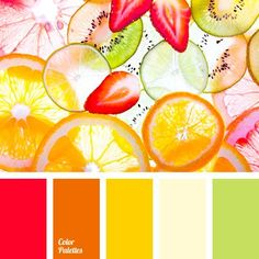 Primary Logo Colors Have Red In Them? Don't know what goes with it how about some complimentary colors Orange Color Palettes, Red Colour Palette, Colour Schemes, Color Combos, Red Color, Summer Color Palettes, Photo Fruit, Ecole Design, Design Seeds