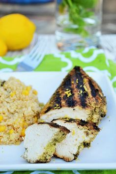 Lemon Basil Chicken - Click on this link for the perfect chicken recipe for weekend summer grilling.. or you can even cook it in your oven! http://www.packmomma.com/lemon-basil-chicken/