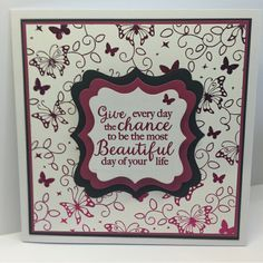6x6 square card made using Crafter's Companion Foil Transfers and Foils – Designed by Judith Hall #crafterscompanion
