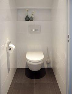 Space Saving Toilet Design for Small Bathroom - Home to Z Space Saving Toilet, Small Toilet Room, Guest Toilet, Downstairs Toilet, Toilet Closet, Bathroom Closet, Bathroom Toilets, Laundry In Bathroom, Bad Inspiration