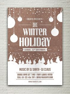 Winter Holiday Flyer by Peachline