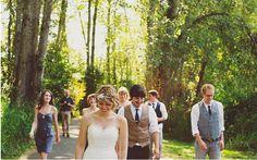 I like casual, un-posed wedding photos