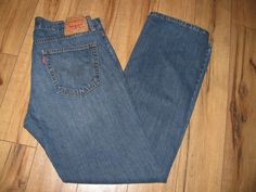 Levis 559 Mens Levi Blue Jeans 34X34 Relaxed Fit Straight Leg  #Levis #RelaxedFitStraightLeg