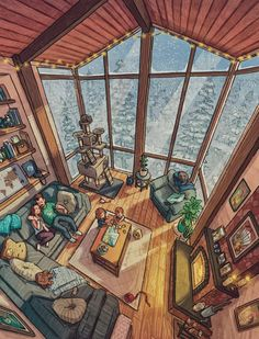 Jr Art, Sims House, Environment Concept Art, Scenery Wallpaper, Cozy Place, Art Graphique, Home Room Design, Anime Scenery, Architecture