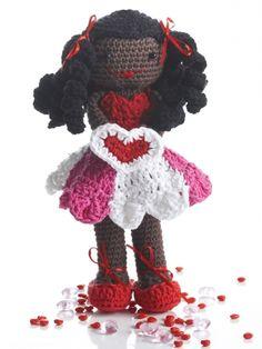 Valentines Lily Doll | Yarn | Free Knitting Patterns | Crochet Patterns | Yarnspirations