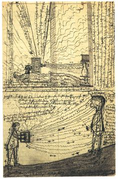 """""""influencing Machine"""" Jakob Mohr, Beweisse [Proofs], ca. 1910. Courtesy Prinzhorn Collection, University of Heidelberg."""