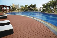 #wood engineered flooring   wood plastic #composite #flooring for #swimming #pool
