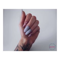Nails Stiletto Grey Beauty Products 46 New Ideas Purple Manicure, Gray Nails, Pink Nails, Purple Nail Designs, Cool Nail Designs, Acrylic Nail Designs, Trendy Nail Art, Sparkle Nails, Nails Tumblr
