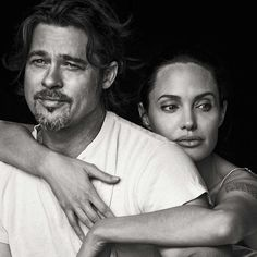 """""""Hollywood power-couple, Angelina Jolie Pitt and Brad Pitt, photographed by Peter Lindbergh (@therealpeterlindbergh) for Vanity Fair Italia November 2015…"""""""