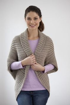CROCHET LADIES SHRUG, SUITABLE FOR BEGINNERS - FREE PATTERN. This too in another…