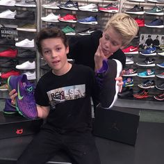 Carson Lueders and Hayden Summerall shoes