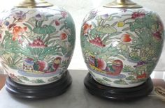 Oh, love these Chinoiserie lamps!