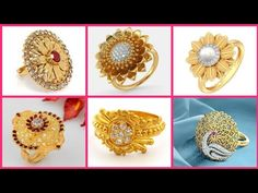 Stylish Gold Rings Designes // New Floral Shape Gold Rings Designes - YouTube Gold Diamond Rings, Gold Rings, L Shape, Floral, Youtube, Stylish, Flowers, Flower, Youtubers