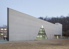 Triangle School by Nameless Architecture has a three-sided courtyard at its centre.