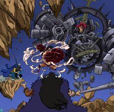 Manga Anime One Piece, One Piece Fanart, Anime Manga, Kaido Vs Luffy, Kaido One Piece, One Peace, Naruto Shippuden Sasuke, One Piece Luffy, Animes Wallpapers