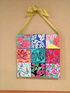 Handmade DIY canvas dorm decoration. #lilly #dorm