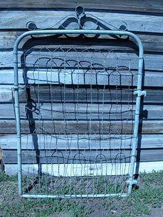 Vintage Antique Wire Gate Garden Yard Art Cottage Style Fence | eBay