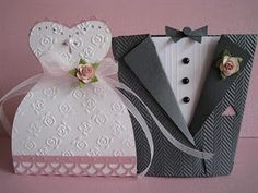 Tie the Knot treat boxes #Cricut