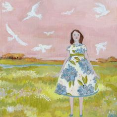 everything was as it should be - original oil painting. by Amanda Blake $600.00, via Etsy.