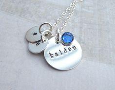 Personalized Keepsake Tag Necklace  Sterling by DesignsBySamra, $56.00