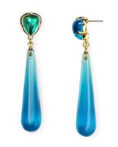 Kenneth Jay Lane Aqua Drop Earrings | Bloomingdale's