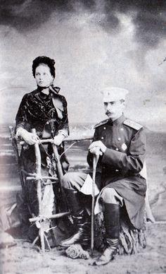 "Engagement photo of Princess Zinaida Nikolaevna Yusupova and Count Felix Sumarokov-Elston in 1882. ""AL"""