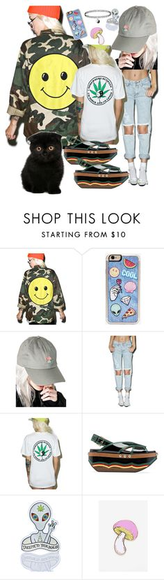 """Peace,Love&Shrooms"" by internetprincessoutfits ❤ liked on Polyvore featuring Audrey 3+1, Zero Gravity, CRSHR, Glamorous, HLZBLZ, Marni, Punky Pins and Big Bud Press"