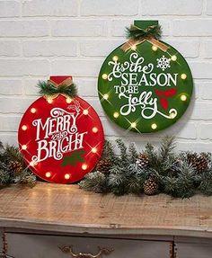 Diy Christmas Lights, Christmas Signs, Outdoor Christmas, Christmas Projects, Christmas Tree Ornaments, Holiday Crafts, Christmas Time, Country Christmas, Christmas Ideas
