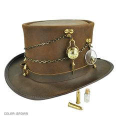 Head 'N Home Trinket Ammo Band Top Hat (Brown) (*Made to Order*)