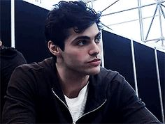 Something about that jaw line and those dark eyes with his thick lashes just catches my attention... Oh Matt.