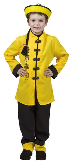 More dress-up clothes for the China lesson.  China Boy Kids Costume - Chinese Costumes
