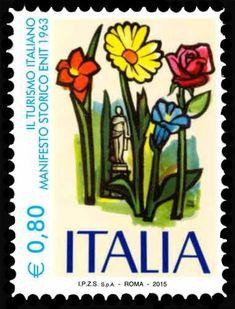 Sello  Historic ENIT poster (Italia) (Tourist Attractions) Mi IT 3778 6dda25cd21ef