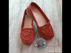 Tığ işi patik modelleri/ crochet/knitting/crochet shoes - YouTube