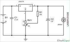circuit diagram of laser diode driver circuit design dc circuit, circuit  design, circuit diagram
