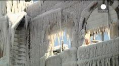 Las dos caras de la tormenta de hielo en la costa este de Estados Unidos