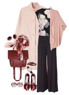 """Untitled #708"" by clothes-wise ❤ liked on Polyvore featuring Miu Miu, MANGO, See by Chloé, Jérôme Dreyfuss, Loro Piana, Ted Baker, Melissa McCarthy Seven7, 88 RUE DU RHONE, Fendi and Elizabeth Cole"
