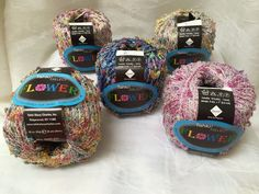 Tahki Select Flower Multi-Color Ribbon Yarn 5 Skeins Assorted Colors #TahkiSelectFlower #Ribbon