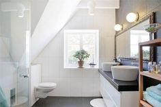 roomy attic bathrooms