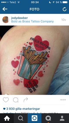 French Fries tattoo