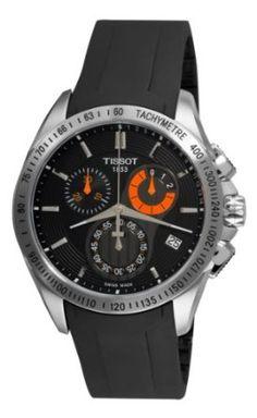 7ee410c5d05 Tissot Mens T0244171705100 Veloci-T Chronograph Black Dial Watch Homem  Moderno