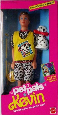 Barbie - Pet Pals KEVIN Doll w Dalmatian Puppy (1991) Pet Pals Kevin Doll,http://www.amazon.com/dp/B001G6YY86/ref=cm_sw_r_pi_dp_C6z5sb02V0WBK1JZ