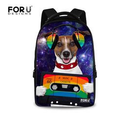 c42c20243a4b Large Capacity 17 inch Animal Music Dog Cat Printed Women Laptop Backpack  College Student School Backpacks Girls Casual Bagpack-in Backpacks from  Luggage ...