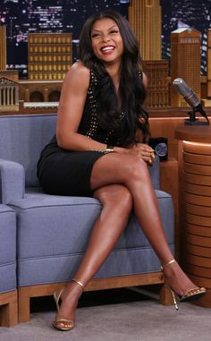 Taraji P. Henson from The Big Picture: Today's Hot Pics  Cookie's in stitches! The Empire star clearly had a great time during her visit to The Tonight Show.